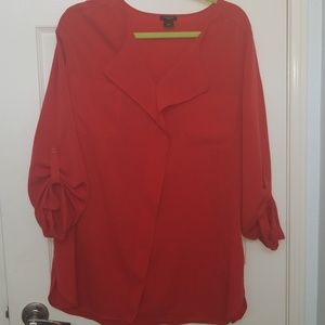 Red long blouse
